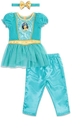 Disney Princess Jasmine Baby Girls Peplum Costume Top Leggings Set Blue 12 Months