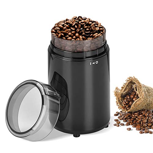 BOWUTTD Electric Coffee Grinder Spice Grinder Stainless Steel Blade Fast Grinding Coffee Beans, Nuts, Grains, Spices, 60g Capacity, 150W, Black