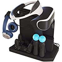 Lenboken-KJH All-in-One PSVR Charging Display Stand PlayStation VR Vertical Stand Cooling Fan with Controller Charging…