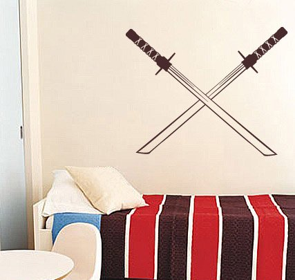 Great Wave Katana - Vinyl Wall Decal Sticker Samurai Katana Sword 20