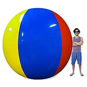 The Beach Behemoth Giant Inflatable 12-Foot Pole-to-Pole Beach Ball by Sol Coastal