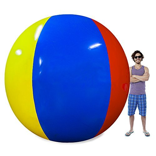 The Beach Behemoth Giant Inflatable 12-Foot Pole-to-Pole Beach Ball by Sol (Jumbo Inflatable)
