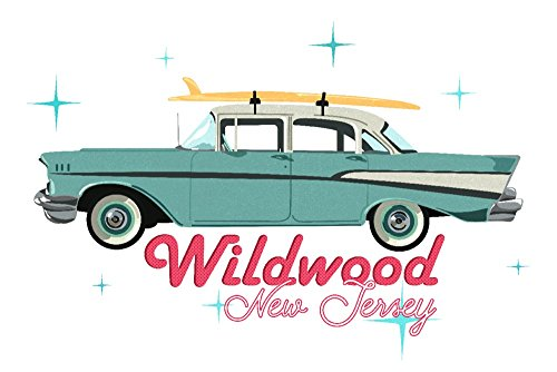 Chevy Master 36 (Wildwood, New Jersey - Retro Chevy (24x36 SIGNED Print Master Giclee Print w/ Certificate of Authenticity - Wall Decor Travel Poster))