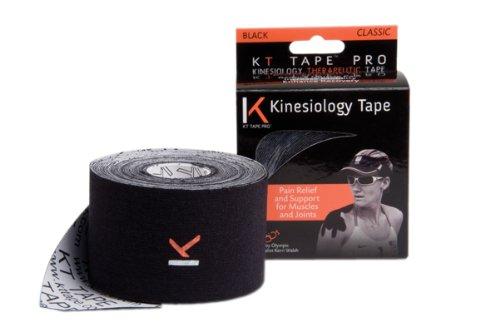 KT tape pro, 2''x16', black, set of 8 rolls (classic)