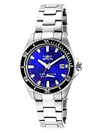 Invicta Women's 15136Syb Pro Diver Stainless-Steel Watch with Impact Case, Blue Dial
