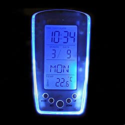 Ywoow New Digital Backlight LED Display Table Alarm Clock Snooze Thermometer Calendar US Warehouse Sending