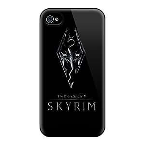 JohnPrimeauMaurice Apple Iphone 4/4s Bumper Hard Phone Covers Provide Private Custom Vivid Skyrim Silver Logo Series [LYy9982Crir]