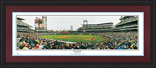 Philadelphia Phillies Deluxe Stadium Panorama  First Pitch At Citizens Bank Park    Burgundy Matting