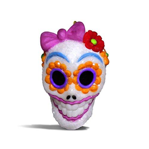 Hallmark Keepsake Halloween Decor Mini Ornament 2018 Year Dated, Sugar Skull Gal Miniature, 1