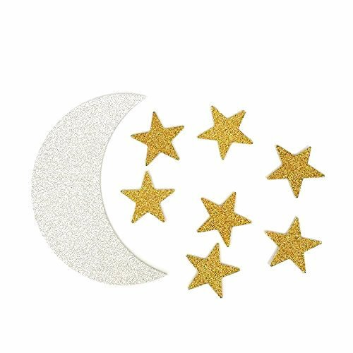 Decorations Stars Moon (TooMeeCrafts Double Sided Silver Crescent Moon and Gold Star Twinkle Twinkle Little Star Party Decoration DIY Shaped Baby Shower or Birthday Party Pack of 48)