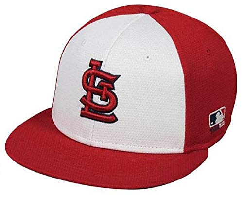 OC Sports St. Louis Cardinals MLB Red White Colorblock Flat Hat Cap Adult Men's Adjustable