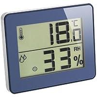 Termómetro e higrómetro digital TFA 30.5027 (diseño ultraplano), azul