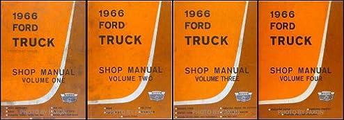 1966 ford truck repair shop manual original 4 volume set ford rh amazon com 1966 ford mustang shop manual free download 1966 ford truck shop manual pdf