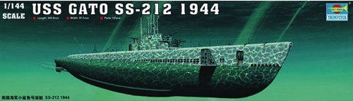 Trumpeter 1/144 USS Gato SS212 Submarine 1944 Model Kit