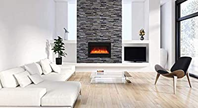 Amantii Zero Series Built-in Electric Fireplace (ZECL-33-3624-BG), 33-Inch