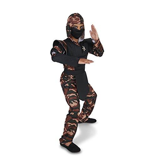 Camo Girl Halloween Costumes (Camo Ninja Child Dress Up Costume M (8-10))