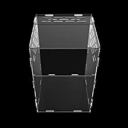 Dalle Craft Acrylic Reptile Terrarium Habitat for juvenile and small arboreal tarantulas anole lizard snails or other Larval Reptiles (7.87x7.87x11.5inch)