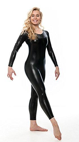 Navy Blue Shiny Metallic Dance Catsuit Unitard Katz Dancwear KDC017 SECONDS