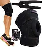 Physix Gear Knee Braces for Women & Men - Best Patella Stabilizing Knee Brace For Arthritis Pain and Support, Knee Support Brace - Adjustable Knee Brace for Women & Men Knee Pain Relief BLK/PINK S