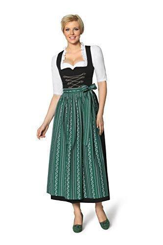 Stockerpoint - Dirndl lang klassisch 1tlg, Amber, Größe:48;Präzise Farbe:schwarz