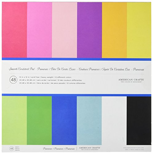 12 x 12-inch AC Cardstock Pad by American Crafts | Includes
