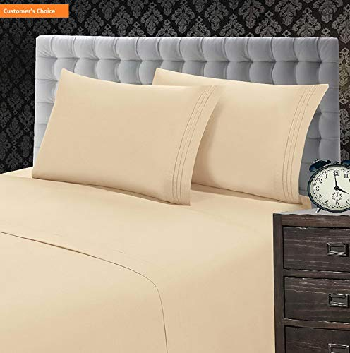 Jumper Set Butterfly - Mikash New Soft 1500 Thread Count Luxury Egyptian Quality Wrinkle and Fade Resistant 4-Piece Sheet Set, King, Beige   Style 84599384