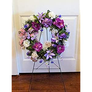 Mother's Day Cemetery Wreath, Cemetery Wreath with Lilies, Cemetery Wreath Mom 117
