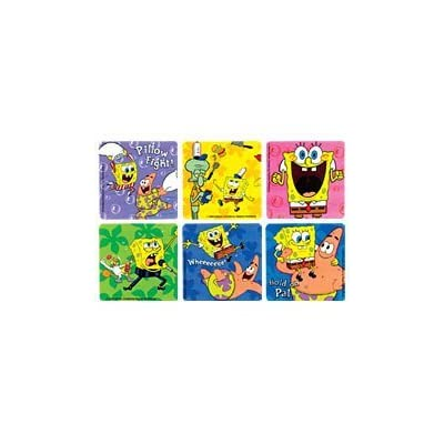 Spongebob Stickers 100 per roll: Toys & Games
