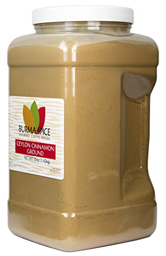Ground Ceylon Cinnamon | Very freshly ground | Highest Premium Grade | 100% Pure with no additives | Kosher Certified (50oz) by Burma Spice (Image #1)