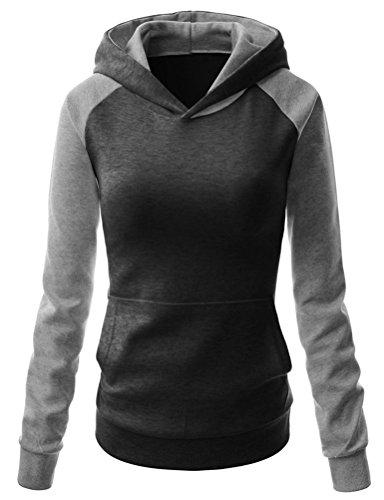 Arlyn Perez Womens Long Sleeve Contrast color Pullover Hoodie Sweatshirt
