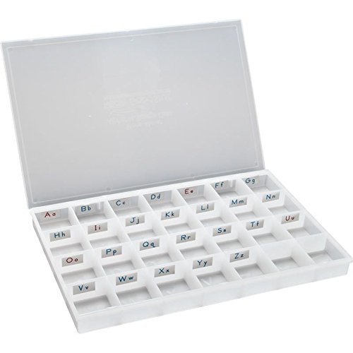 Really Good Stuff 147768 Alphabet Letters Storage Case