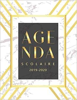 Amazon.com: Agenda Scolaire 2019 - 2020: Calendrier ...