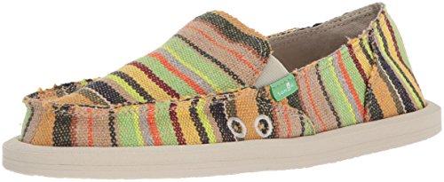 Sanuk Women's Donna Loafer Flat, Green Kauai Blanket, 10 M US (Donna Womens Shoes)