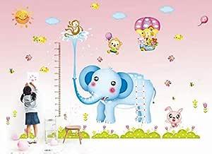 Kindergartens Cartoon Wall Stickers-Cartoon elephant Height Charts