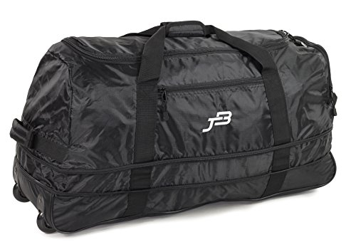 JB Ultralight 1.1kg! Folding XL 120L Expanding Wheeled Travel Duffle...