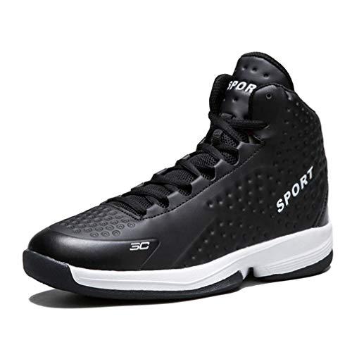 YAN Zapatillas de Baloncesto para Hombre, Zapatillas Altas de Piel ...