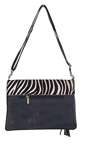 Ateliers Florentins , Damen Clutch mehrfarbig zebre