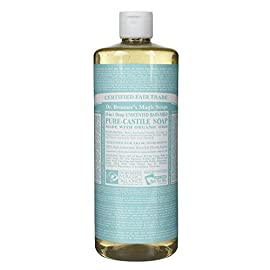 Dr. Bronner's Baby-mild Liquid Soap 32 Oz 51 Made with Organic Oils* 3x concentration Unscented baby-mild