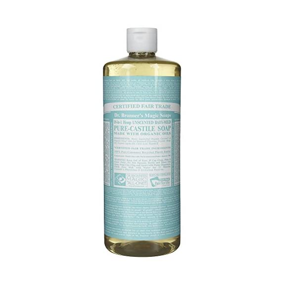 Dr. Bronner's Baby-mild Liquid Soap 32 Oz 1 Made with Organic Oils* 3x concentration Unscented baby-mild