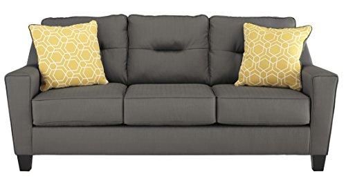 Amazon Com Benchcraft Forsan Nuvella Contemporary Sofa