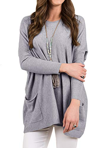 Women's Fall Casual Loose Long Sleeve Tunic Sweatshirt Pullo