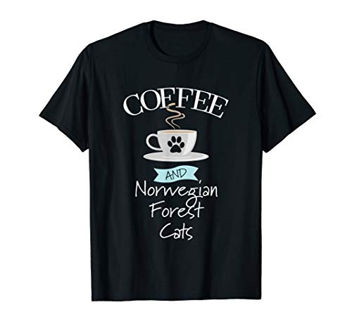 Coffee And Norwegian Forest Cats T Shirt