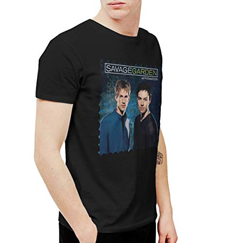 XLBSFJIWVD Savage Garden Affirmation Men's Short Sleeve T-Shirt Black XXL (Savage Garden Shirt)