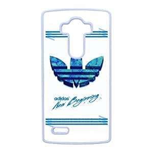 Hard Back Cover Protector LG G4 Cell Phone Case White Adidas Tlyaze Design Durable Phone Cases