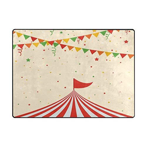 Jojogood Circus Tent Area Rug Carpet Soft Floor mat for Living Room Bedroom -