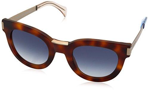 Tommy Hilfiger Women's Th1379s Rectangular Sunglasses, Havana Gold/Blue Gradient, 49 - Prescription Sunglasses Hilfiger Tommy