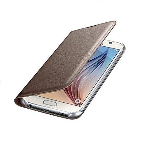 pretty nice 618c4 3a750 YuniKase Samsung Galaxy J7 - 6 (New 2016 Edition) Premium Durable Leather  Flip Cover Case - Gold