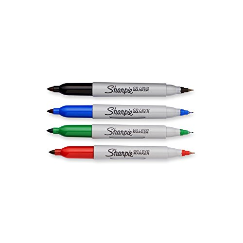 Sharpie CD/DVD Twin Tip - Assorted 4 Pack 37030 by Sharpie (Image #2)