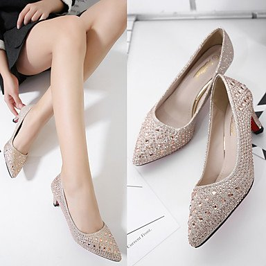 uk4 PU Silver gold ggx Heels 4in 2 3 cn36 Gold Slingback Casual Women's Ruby 2in Spring Slingback LvYuan eu36 us6 xBUnfqn