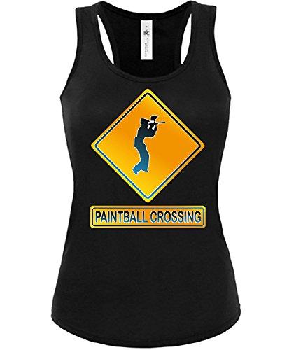 PAINTBALL CROSSING mujer camiseta Tamaño S to XXL varios colores S-XL Negro / Blanco
